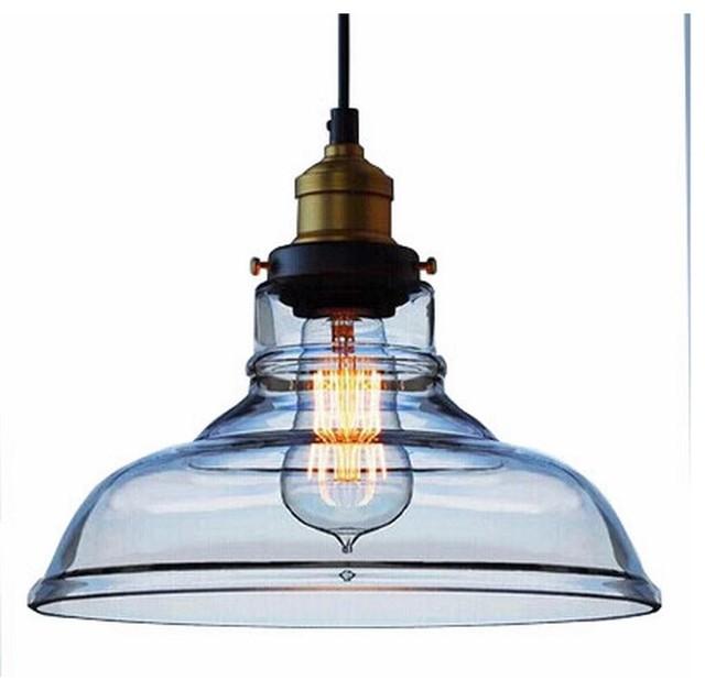 RH Loft Industrial Vintage Glass Pendant Lamp Light Industrial Pendant Li