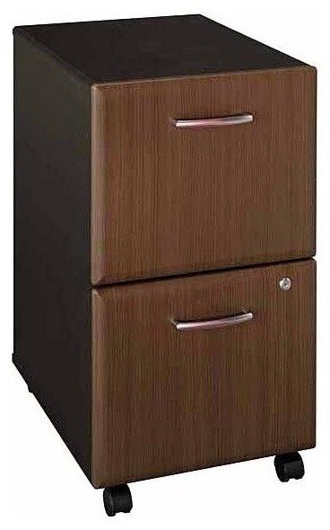 Two Drawer File Cabinet w Double Lock - Serie - Contemporary - Filing Cabinets