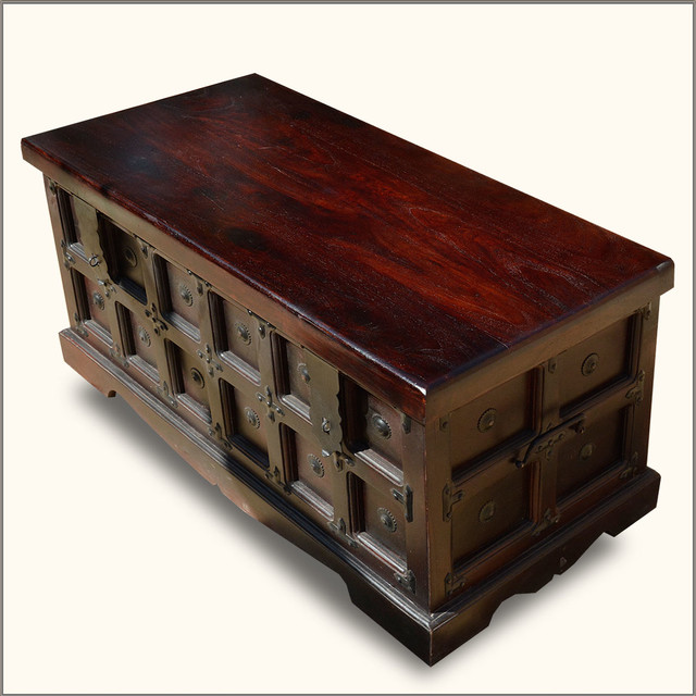 Royal Gothic Indian Rosewood Standing Coffee Table Chest - Transitional - Accent Chests And ...