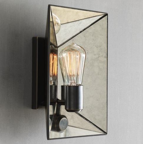 Wall Lamps West Elm : Faceted Mirror Sconce - Modern - Wall Sconces - by West Elm