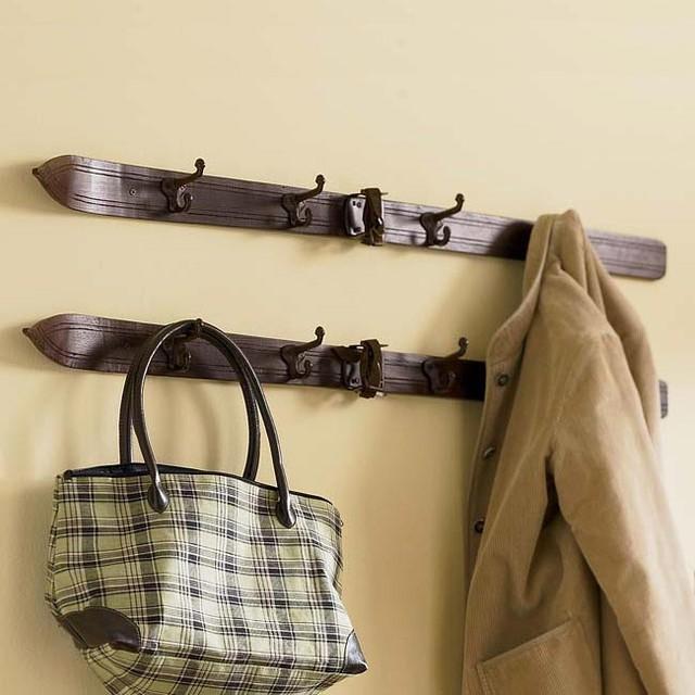 Hockey Stick Coat Racks: Vintage Ski Coat Rack