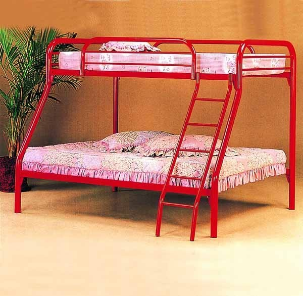red metal twin bed 1