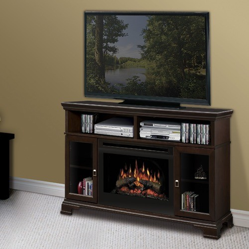 Brookings 53 tv stand with electric fireplace modern entertainment centers and tv stands - Contemporary electric fireplaces entertainment center ...
