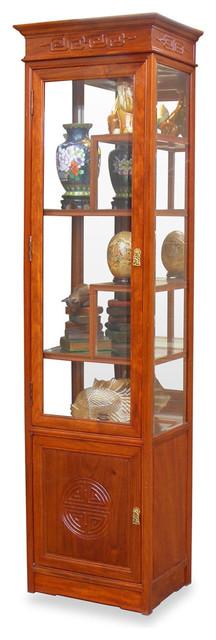 Rosewood longevity design curio cabinet asian for Rosewood garden designs