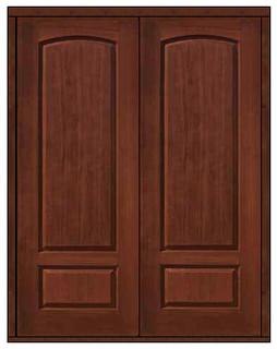 Prehung Entry Double Door 96 Fiberglass Rustic Solid