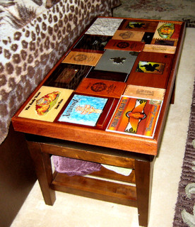 Cigar box coffee table eclectic coffee tables Eclectic coffee table makeovers