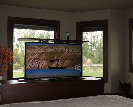 End of bed TV lift cabinet, Florence Design
