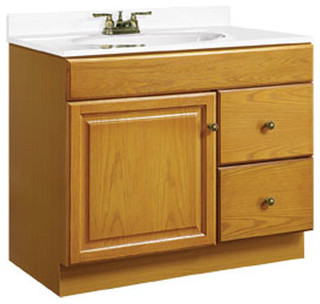 18 Inch Utility Sink With Cabinet : ... 18 Inch Oak Vanity - Farmhouse - Bathroom Vanities And Sink Consoles
