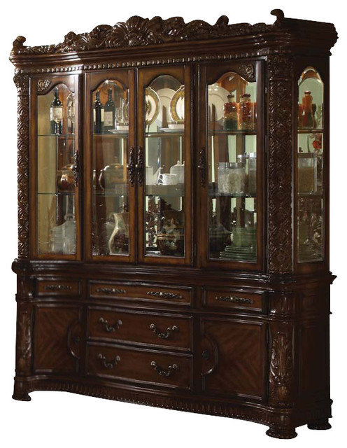 Acme Vendome Cherry Finish Buffet And Hutch China