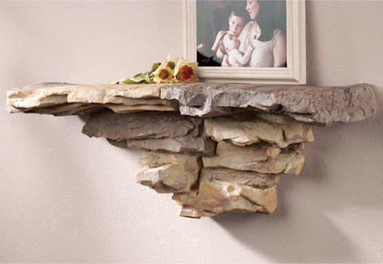 Faux Stone Shelf - Traditional - Display And Wall Shelves - by Exposures