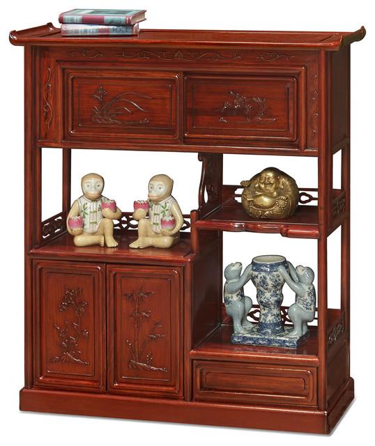 Rosewood Curio Display Cabinet