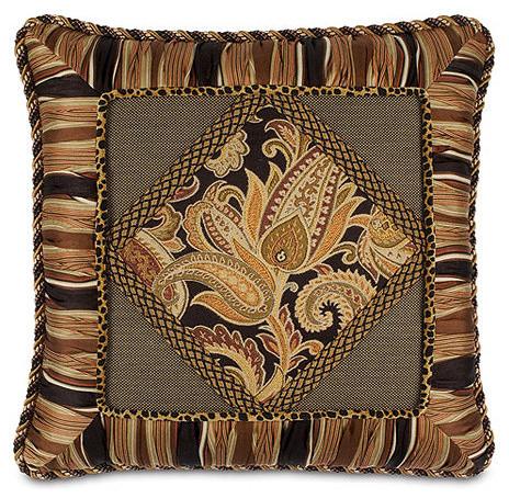 Langdon Diamond Collage Pillow - Traditional - Decorative Pillows