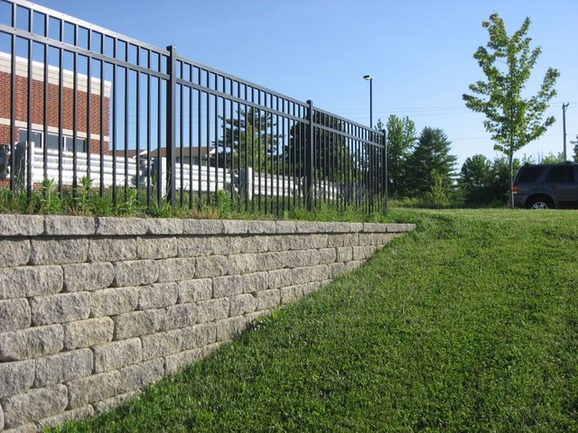 midwest block segmental retaining walls traditional landscaping stones and pavers