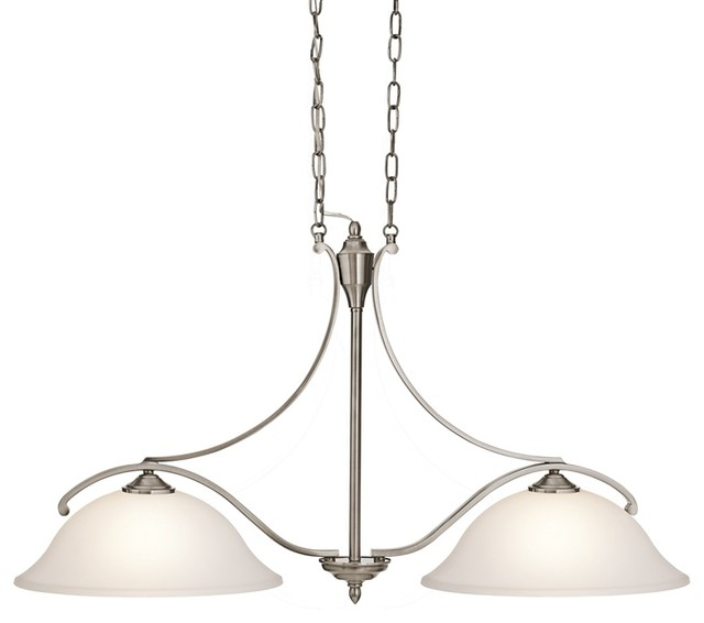 Kichler 43407CLP Wellington Square Classic Pewter 2 Light Pendant Transitio