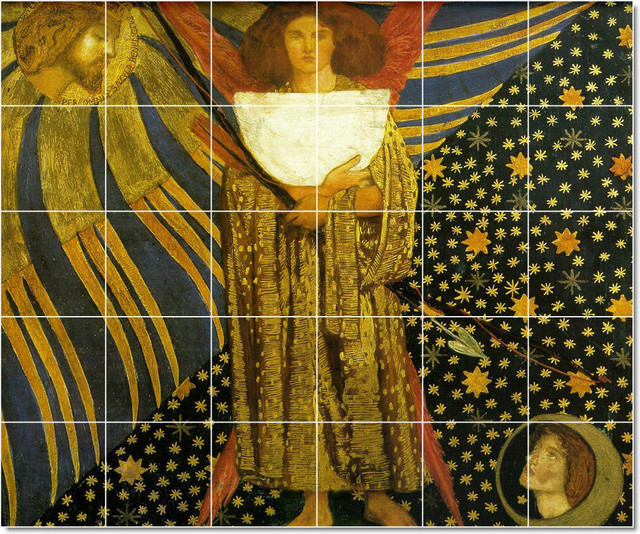 Dante gabriel rossetti mythology painting ceramic tile for Ceramic mural art