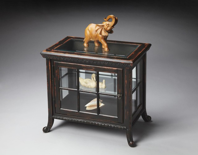 Butler Masterpiece Chopin Chair-Side Curio Table In Midnight Rose - Contemporary - Side Tables ...