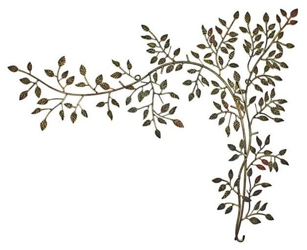 Leaf Branch Vine Corner Wall Art