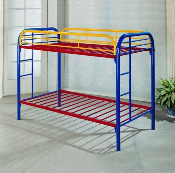 metal bunk bed twin over twin 2
