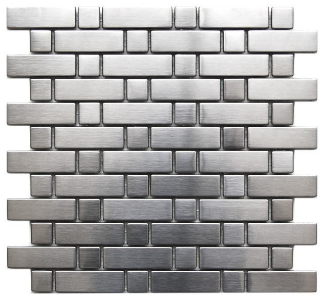 Steel Mosaic Tile Sheet Contemporary Tile By Eden Mosaic Tile