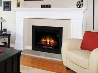 Classicflame 26 inch spectrafire fireplace insert flush for Indoor fireplace kits