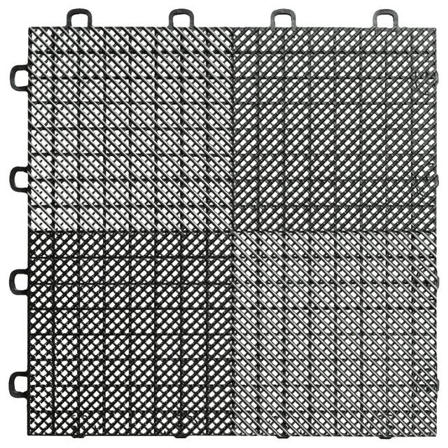 Blocktile Interlocking Deck Patio Flooring Tiles