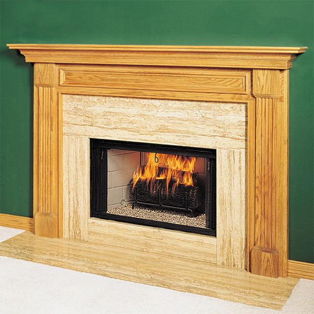 Hamilton Wood Fireplace Mantel Traditional Indoor
