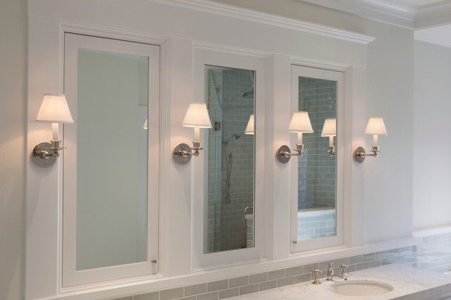 White Medicine Cabinets With Mirrors Transitional Bathroom San Francisco By Jeff King