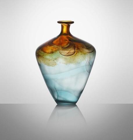 Impressione nuro glass decor decor vases modern for Modern home decor vases