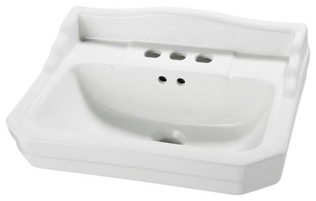 ... 1920 Petite Pedestal Sink Basin, White, 7