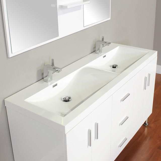 Alya Bath At 8043 W 56 Double Modern Bathroom Vanity White Modern Bathroom Vanities And
