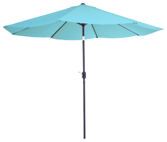 Pure Garden 10 Aluminum Patio Umbrella with Auto Tilt