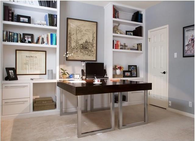 built in shelving and desks desks and hutches austin by the manufactory llc. Black Bedroom Furniture Sets. Home Design Ideas