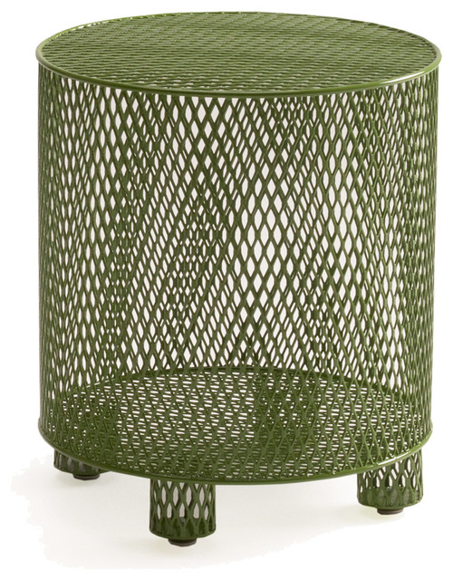 Half 13 quotpunchquot stool table contemporary garden side for Garden stool side table