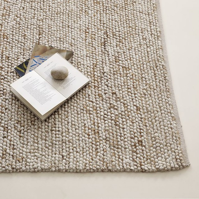 Mini Pebble Wool Jute Rug Contemporary Rugs By West Elm