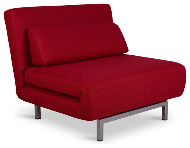 Copperfield Solo Red Chair Bed Modern Futons