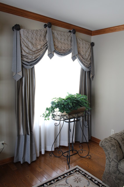 Casual Valances In Formal Living Room Traditional