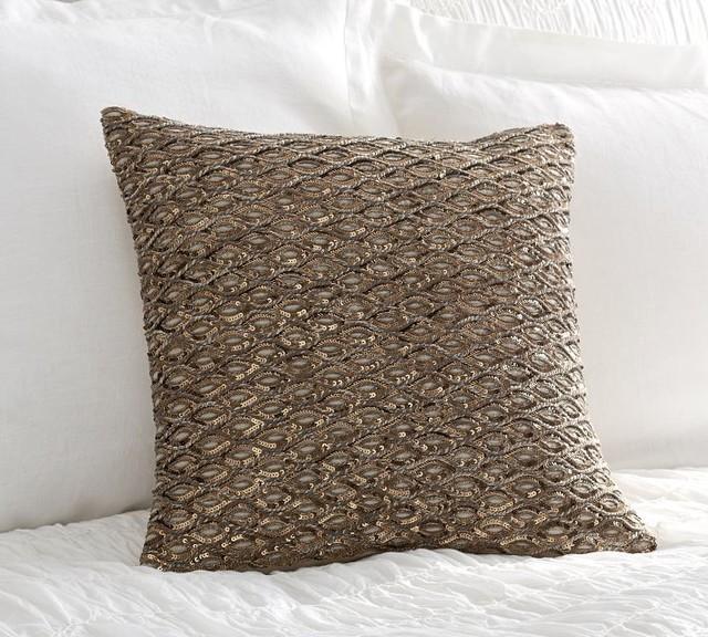 Sequin Rope Pillow Cover - Contemporary - Decorative Pillows - sacramento - by Pottery Barn