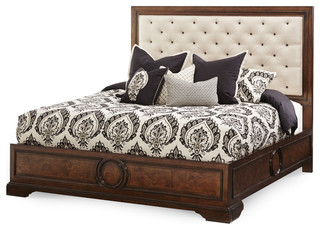 bella cera bed with fabric tufted california king fabric tufted bed only classique lit. Black Bedroom Furniture Sets. Home Design Ideas