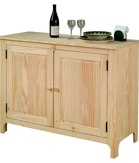 Unfinished Pine Sideboard craftsman-buffets-and-sideboards