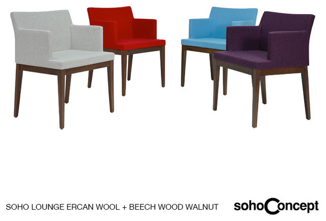 Soho Concept Wood Lounge Arm Chair - Modern - Dining Chairs - los ...