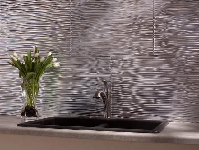 fasade waves brushed aluminum modern home decor