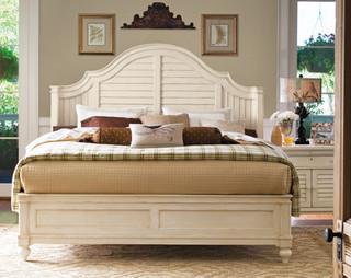 Paula Deen Steel Magnolia Bedroom Set In Linen Traditional Bedroom Furniture Sets By