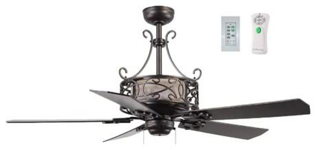 Ellington E Der54esp5cr Del Rey Fan With Light Traditional Ceiling Fans Los Angeles By