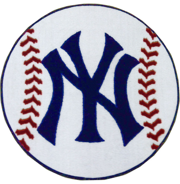 Mlb New York Yankees Baseball Rug Contemporary Area