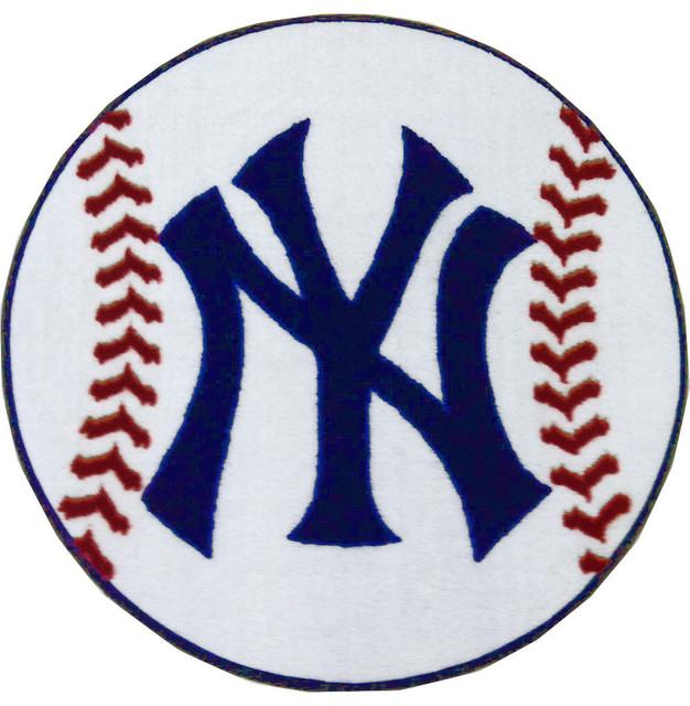 MLB New York Yankees Baseball Rug