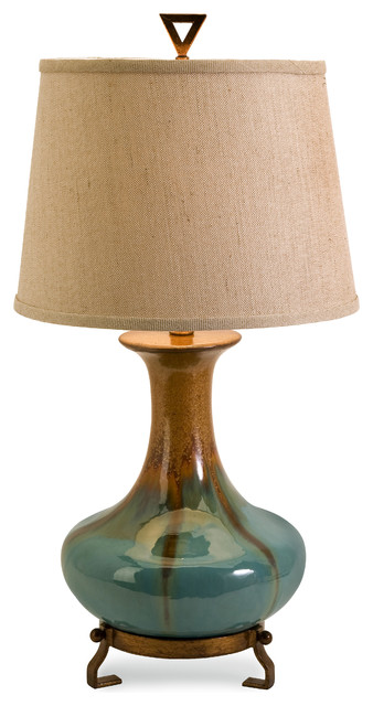 kirkly ceramic table lamp traditional table lamps by imax. Black Bedroom Furniture Sets. Home Design Ideas