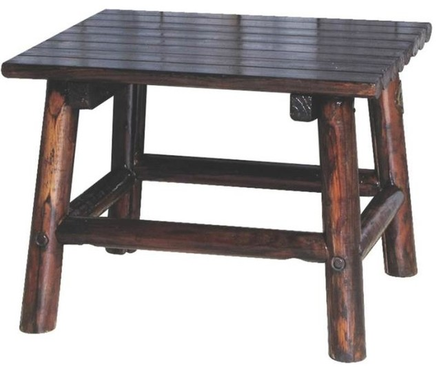 Leigh Country Tx 93723 Char Log End Table 24 Traditional Side Tables And End Tables By
