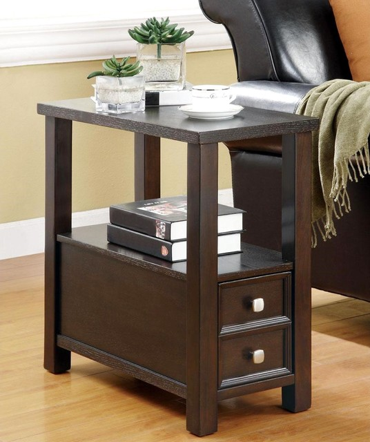 Casual accent table with storage drawer and shelf contemporary side tables end tables by - Contemporary side tables with storage ...