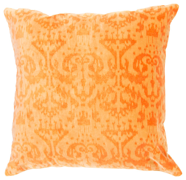 Handmade Cotton Yellow/Gold Pillow - Transitional - Decorative Pillows