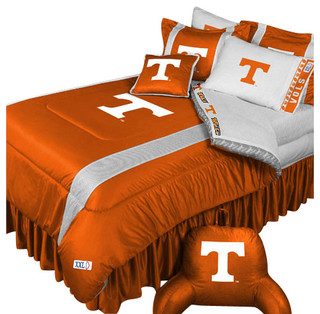 ncaa tennessee volunteers bedding set college football bedding set full contemporain couvre. Black Bedroom Furniture Sets. Home Design Ideas